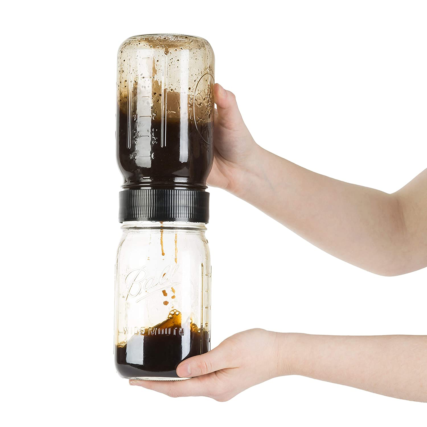 BRUW フィルター With Mason Jars Bruw-filter With Mason Jars BRUW Filter B01BI6OL6S