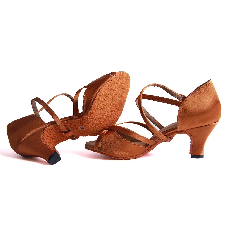 Syrads Womens Ballroom Latin Dance Shoes Salsa Tango Bachata Dancing Shoes Wedding Social Party Indoor Dance Shoes