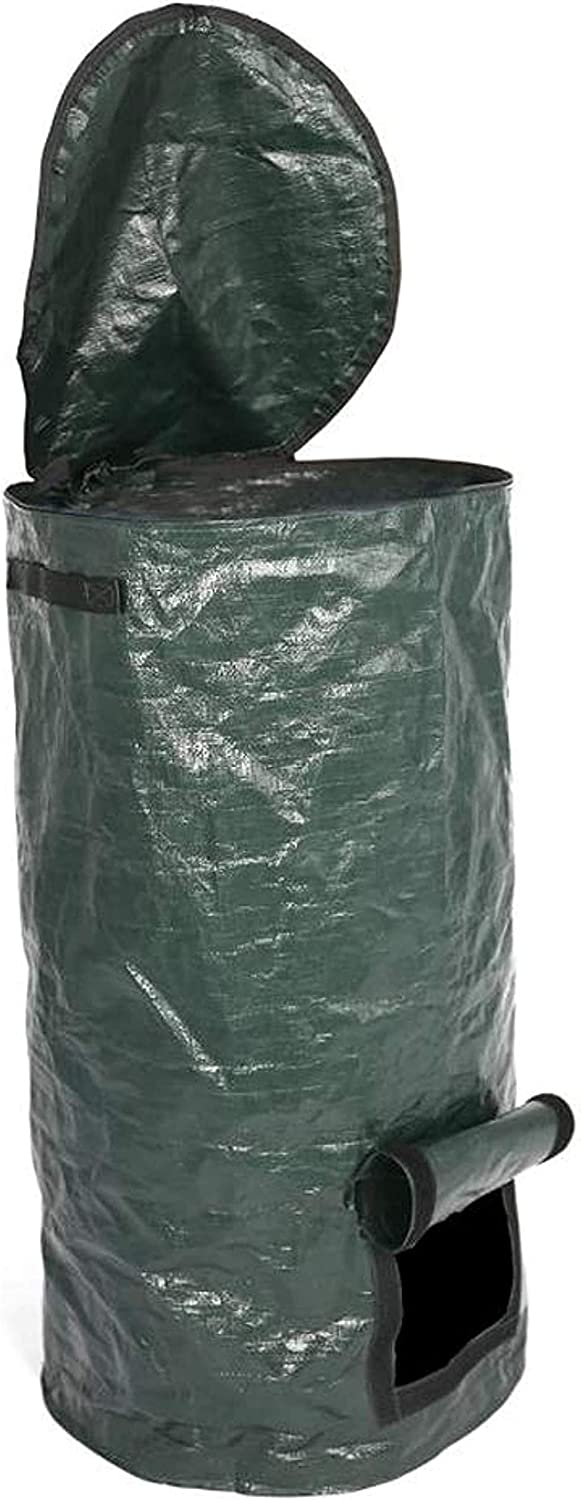 AMILIEe Yard Waste Bags, Reusable 80 Gallons Garden Trash Can Lawn and Leaf Bags Heavy Duty Gardening Bags with Dual Handles for Lawn Pool Garden Leaf Yard Waste (S)