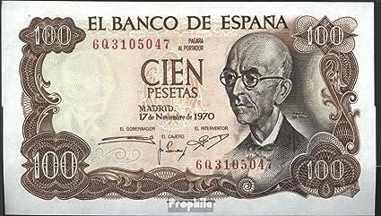 España Pick-No.: 152a bankfrisch 1970 100 Pesetas (billetes para los coleccionistas): Amazon.es: Oficina y papelería