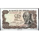 MATIDIA Billete Original 100 PESETAS 1965 Gustavo Adolfo BECQUER: Amazon.es: Juguetes y juegos