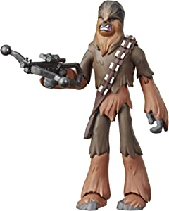 """Star Wars Galaxy of Adventures The Rise of Skywalker Chewbacca 5""""-Scale Action Figure Toy with Fun Action Move"""