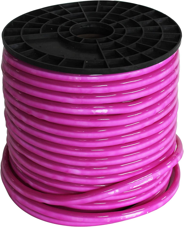 Vasten LED Neon Rope Light 30 Ft Pink Jacket Pink Light 12V LED Neon Lights Waterproof Resistant, Accessories Included - [Ideal for Christmas Lighting, Indoor Outdoor Rope Lighting] (Pink)