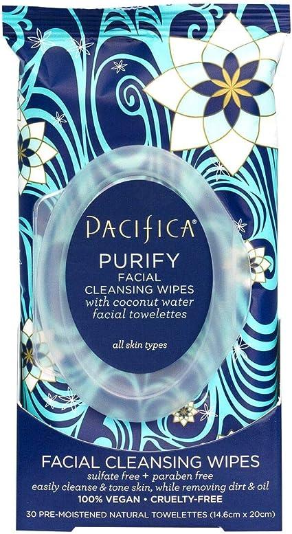 Pacifica Purificador Coco Agua Toallitas De Limpieza Facial - 30 ...