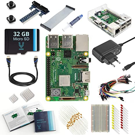 V Kits de Raspberry Pi 3 Model B + (Plus) Ultimate Starter ...
