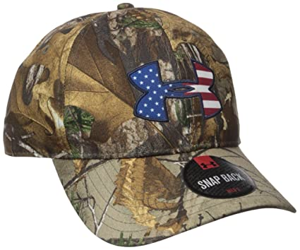 outlet store 2cce6 c6f70 Under Armour Men s Camo Big Logo 2.0 Cap, Realtree Ap-Xtra White,