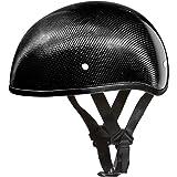 HCI Carbon Fiber Black ABS Shell Half Motorcycle Helmet w// Visor 100-134