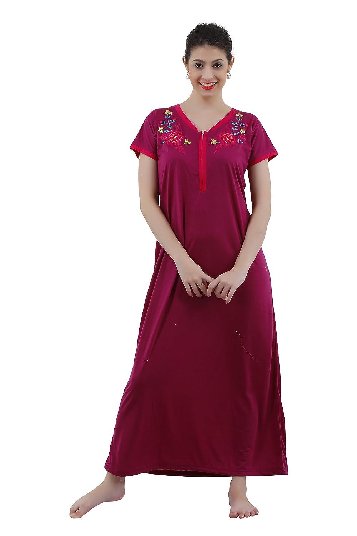 Romaisa Women s Viscose Nighty (Size   Small fd99fa182