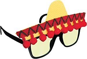 amscan 250474 Fiesta Sombrero Funshades, Adult Size, 1ct, Multi Color