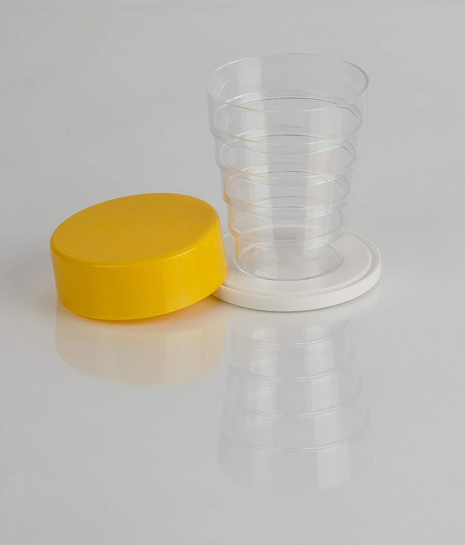 Kimmel Klappbecher Glasklar Gelb One Size
