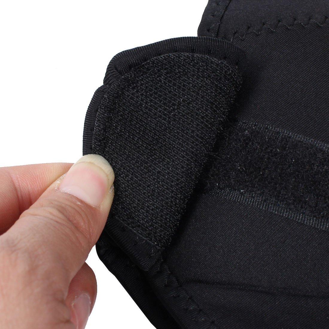 Amazon.com: eDealMax neopreno deportes de Los Hombres Ajustable Soporte de hombro Doble elástico de la Manga del Abrigo del Protector Negro Azul: Health ...