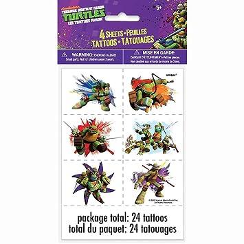 1 X Nickelodeon Teenage Mutant Ninja Turtles Tattoo Sheets ...