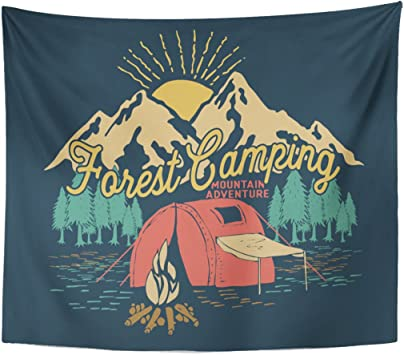 Berrykey Tapestry Camp Forest Camping Adventure Vintage Mountain Home Decor Wall Hanging for Living Room Bedroom Dormisette 50 x 60 Inches: Amazon.es: Juguetes y juegos