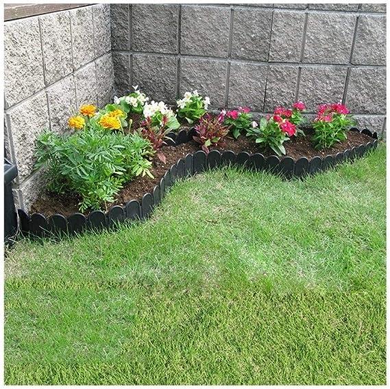 YINUO Cercos Jardín Poste de la Cerca Pantalla Flores Piscina Borde fácil de Instalar Cut Off Patio plástico Resistente al Desgaste a Prueba de Agua, 2 Tamaños (Color : 4pcs, Size :