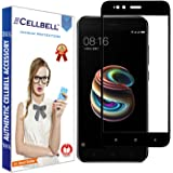 CELLBELL Xiaomi Mi A1(4D)(Black) Tempered Glass Screen Protector Guard With Installation Kit