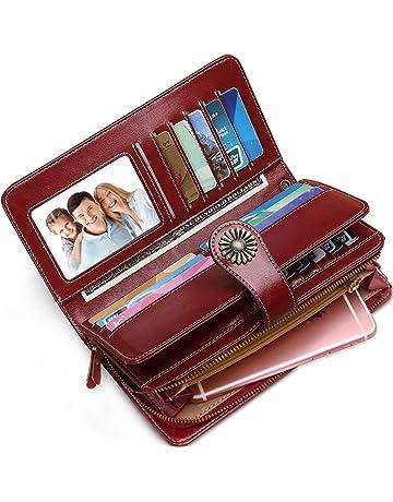 Portefeuille Femme Cuir Grande Capacite Porte Monnaie Femmes RFID Blocage,  Grand Portefeuille Femmes XXL avec dac53fd8736