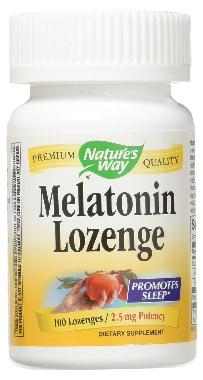 Amazon.com: Natures Way Melatonin Lozenge Fruit - 2.5 mg - 100 Lozenges pack of -2: Health & Personal Care