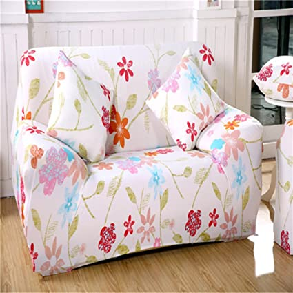 Fantastic Chezmax Floral Pattern Sofa Cover Polyester Fabric Sofa Protector 1 Piece Soft Stretched Sofa Slipcovers Ncnpc Chair Design For Home Ncnpcorg