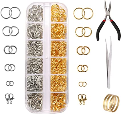 Lobster Clasp Opener Jump Alloy Rings Jewelry DIY Making Necklace Findings Tools