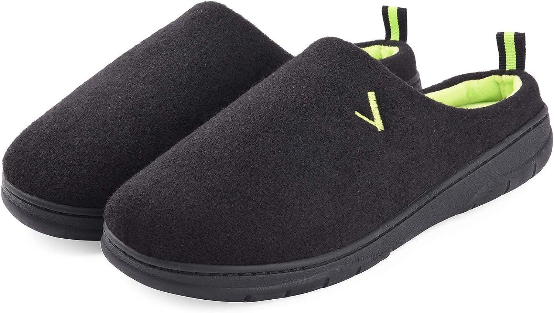 VONMAY Men's Slippers House Shoes Cozy Memory Foam Slip On Two Tone Indoor Outdoor