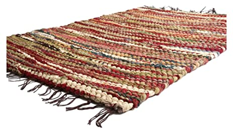Prairie Rugs Heavy Weight Cotton Rag Rug, 4 X 6, Mixed Colors