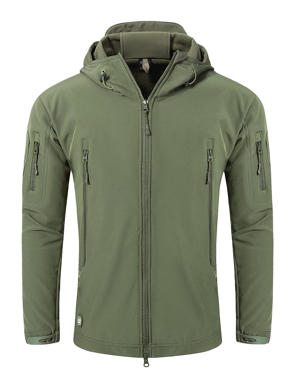 メンズアウトドアソフトシェルTactical Armyコートハンティングジャケット B076PBLGMN Large|アーミーグリーン アーミーグリーン Large