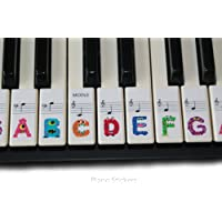 Keyboard or Piano Stickers 61 key set For Kids learn to play THE FUN WAY PSMW61