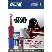 Oral-B Power Kids Gift Electric 3 Refill Toothbrush & Toothpaste Disney StarWars