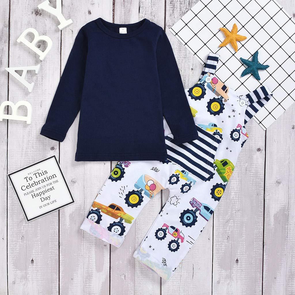 Bebe Niñas Niños Camiseta y Pantalones Petos de Animal Ropa Bebé ...