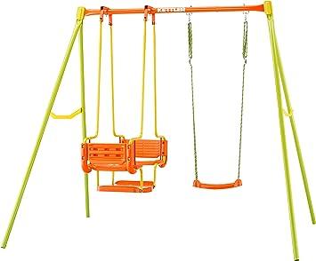 Columpio Infantil de jardín Kettler – Color: Naranja y Verde – con uno, Dos o Tres Asientos – Calidad Made in Germany: Amazon.es: Juguetes y juegos