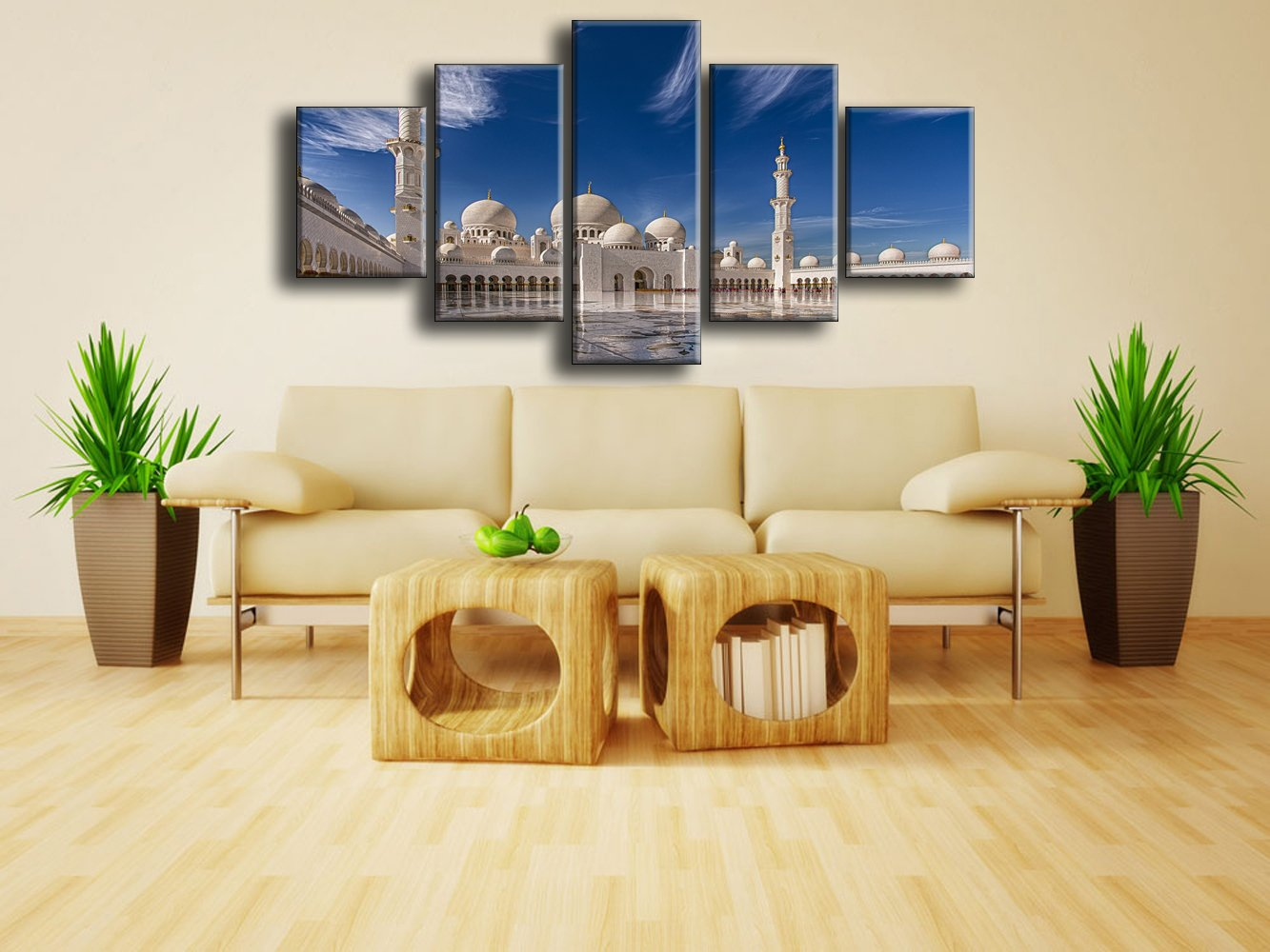 Amazon.com: Extra Large Modern Mosque Printed Painting on Canvas 5 ...