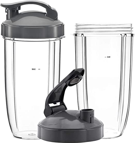Poweka Piezas de Repuesto para Nutribullet 600W / 900W, 2 Vasos de ...