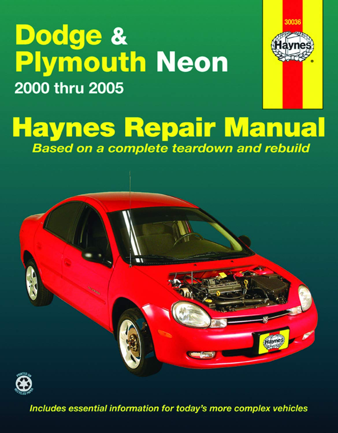 Dodge Plymouth Neon 00 05 Haynes Repair Manual Does Not Include Information Specific To Srt 4 Models Includes Thorough Vehicle Coverage Apart From The Specific Exclusion Noted Larry Warren John H Haynes 9781563925962