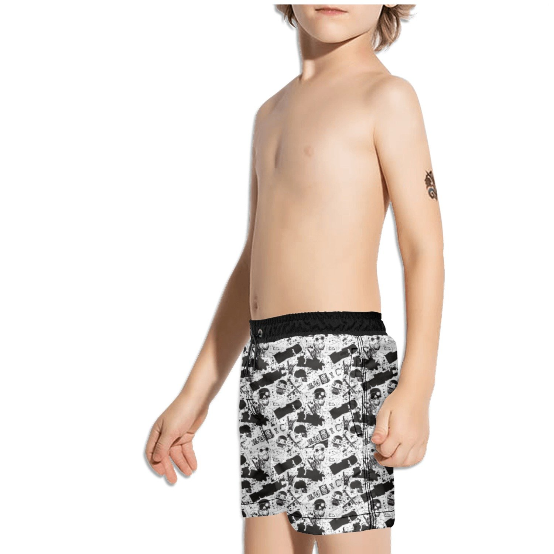Ouxioaz Boys Swim Trunk American Flag Skull Beach Board Shorts