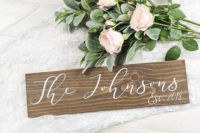 Amazoncom Last Name Wedding Sign With Established Date