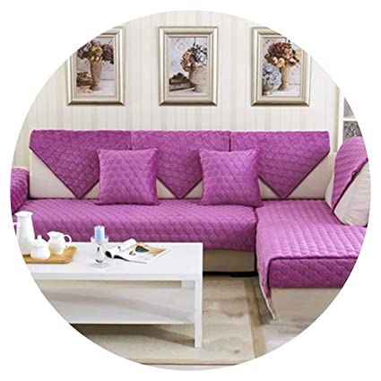 Amazon.com: Pink red Purple Heart Quilted Plush Sofa Cover ...