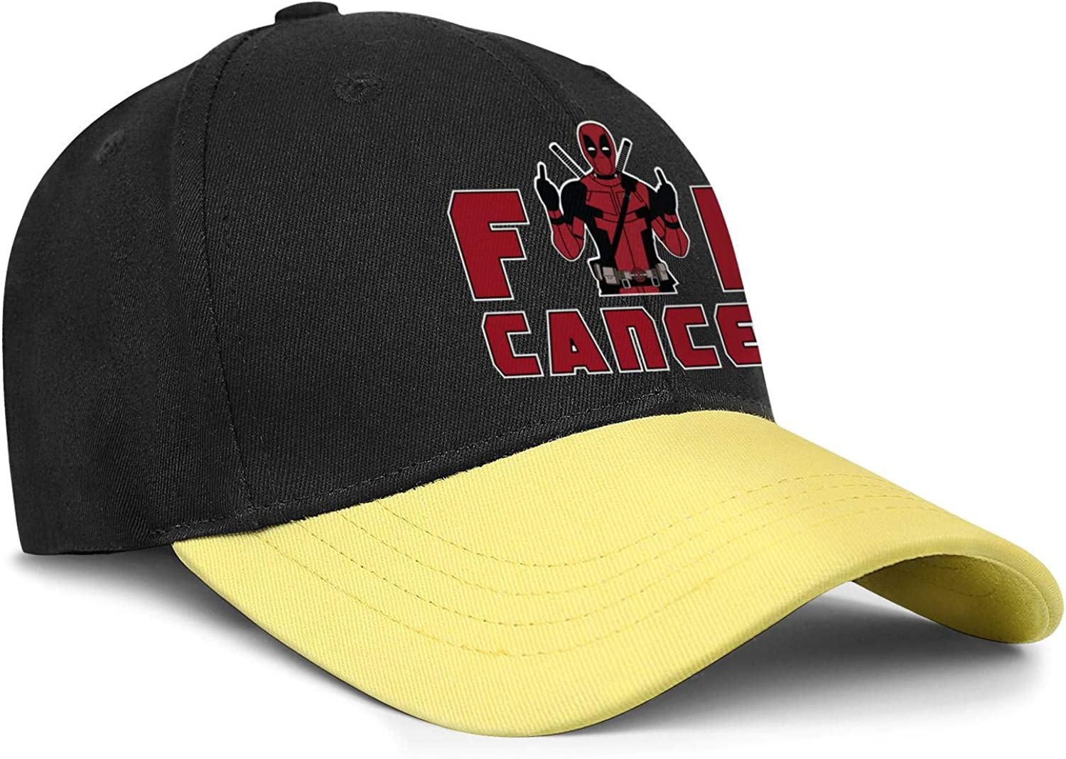 FengY Unisex FCK Cancer Adjustablecowboy Hat Printed Trucker Cap Snapback Hat