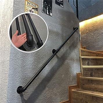 Montado en la pared de la escalera barandilla barandillas, pasamanos de hierro forjado de metal soportes