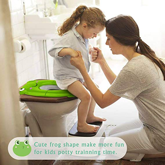 Hemore Potty Training Seat for Boys and Girls Portable Suitable for Most Toilet Chair Sizes Trainer Child Seats Cover 1 Piece White Health Baby Care