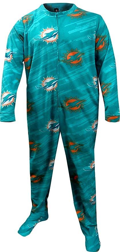 Miami Delfines Onesie Footie pijama para hombre - FCS0515M, Verde azulado