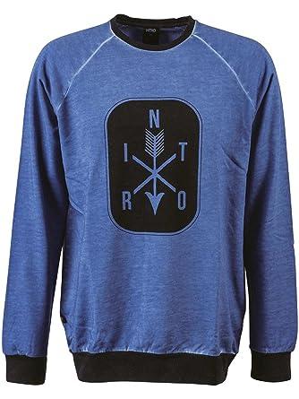 Nitro Snowboards Arrows Hoodie Sudadera, Hombre, Azul, M