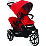 phil&teds Navigator Buggy with Second Seat, Cherry (Discontinued by Manufacturer)