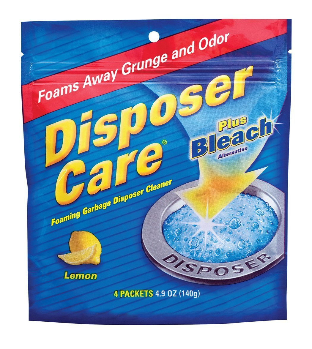Glisten New Super Size Packageage DP06N-PB Disposer Care Foaming Garbage Disposer Cleaner-4.9 Ounces each Powerful Disposal Cleanser for Complete Cleaning of Entire DisposerNew Super Size Package 40 Packets Lemon + Plus Bleach by CocoSmile (Image #1)