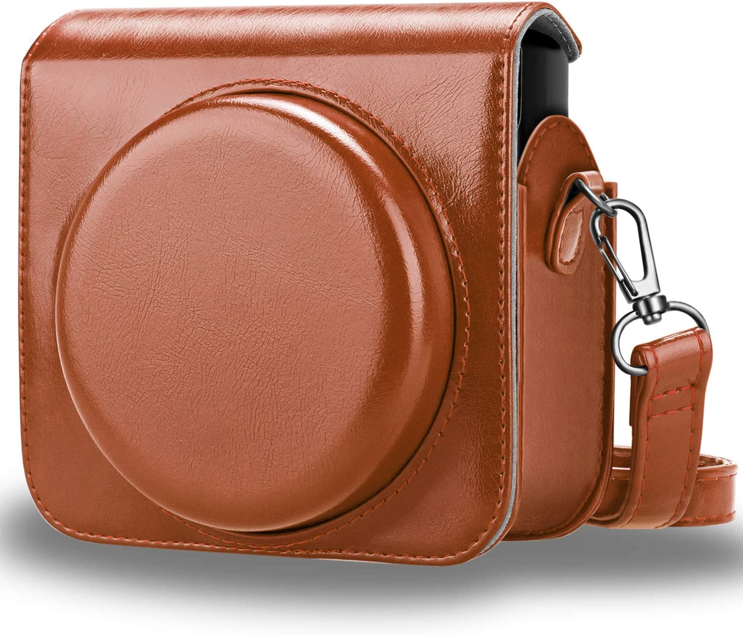 Premium PU Leather Bag Cover with Removable Adjustable Strap Black Fintie Protective Case Compatible with Fujifilm Instax Square SQ6 Instant Film Camera