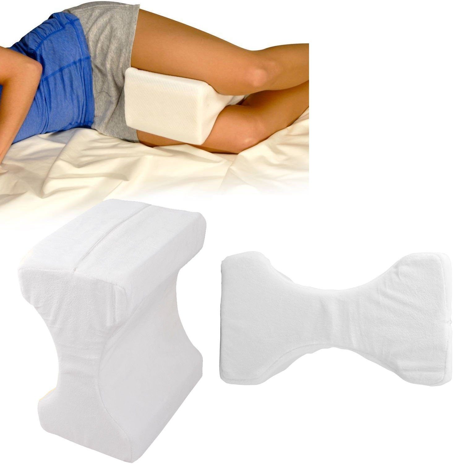 CONTOUR MEMORY FOAM LEG PILLOW ORTHOPAEDIC FIRM BACK HIPS KNEE