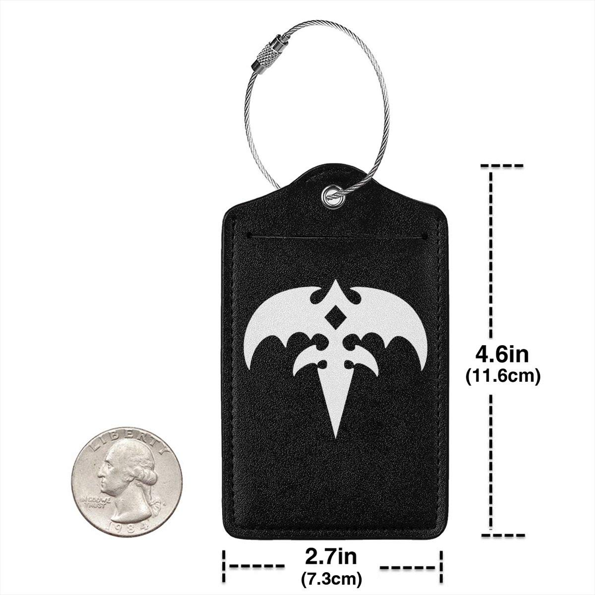 Queensryche Logo Leather Luggage Tag Travel ID Label For Baggage Suitcase