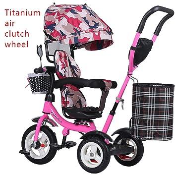 Prams/Strollers Triciclo infantil, bicicleta, portabebés, carrito de luz, bicicleta infantil: Amazon.es: Hogar