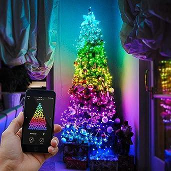 24d96ce685ec5 Guirlande Lumineuse Connectée TWINKLY pour Sapin de Noël 225 LED - Guirlande  Nouvelle Génération Contrôlable Via