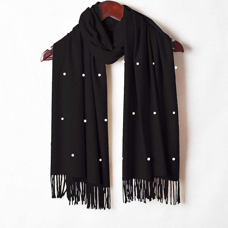 DIDIDD Bufanda-cachemir de otoño e invierno tassels bufandas chales,D