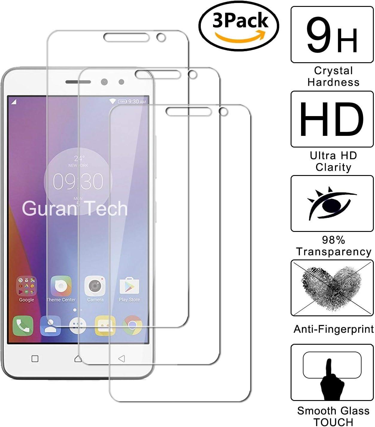 Guran [3-Unidades] Protector de Pantalla Vidrio Cristal Templado para Lenovo K6 Smartphone Cristal Vidrio Templado Film (9H, 2.5D Edge, 0.3mm): Amazon.es: Electrónica